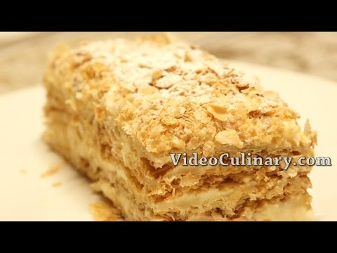 Video Napoleon cake  Recipe - Russian Style Mille feuille