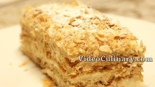 Napoleon Cake  Recipe - Russian Style Mille Feuille