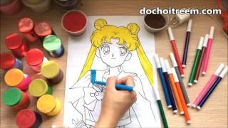 Đồ chơi trẻ em TÔ MÀU THỦY THỦ MẶT TRĂNG - Color painting (Chim Xinh)
