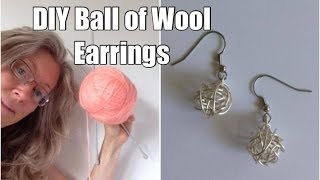 How To Make Balls Of Wool Earrings: DIY Gift For Knitters