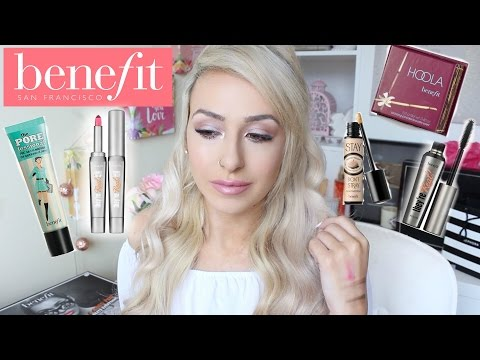 Full Face TESTING BENEFIT cosmetics || DramaticMAC
