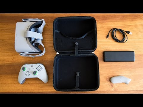 ESSENTIAL OCULUS GO ACCESSORIES!! Oculus Go Anker Battery Pack & Oculus Go Hermit Shell Travel Case
