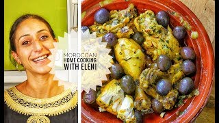 Chicken Tagine With Lemon and Olives Recipe | Moroccan food