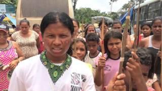 Mobilização dos índios juruna em Altamira, em 18/2/2016