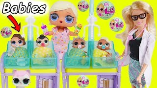 LOL Surprise Dolls get New Lil Sisters from Barbie the Pediatrician