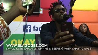 Kwaw Kese Reveals Why He's Beefing With Shatta Wale