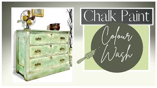 Chalk Painting Furniture Blending With Color Wash And Decorative Wax