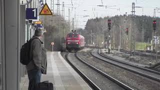 preview picture of video 'Geltendorf 24.12.2012 mit RE, S-Bahn und BRB Bayerische Regiobahn'