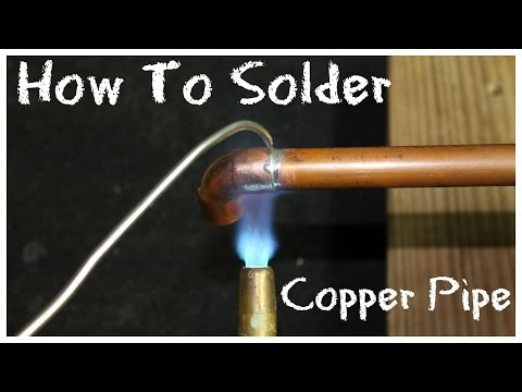 How to Solder Copper Pipe - DIY How-To Basics