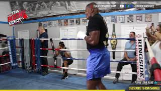 🔥Luis Ortiz Shadow Boxing In Camp For Travis Kauffman🦍on Wilder Vs Fury Card🥊