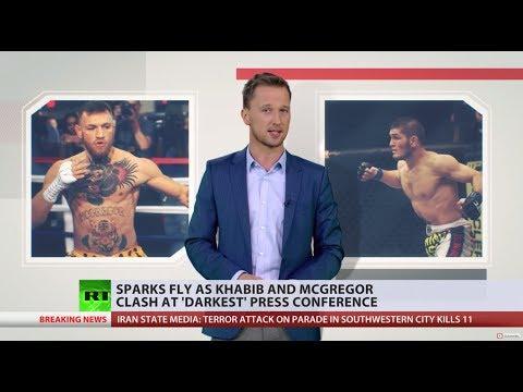 'Darkest press conference': Sparks fly between Khabib & McGregor ahead of UFC title fight
