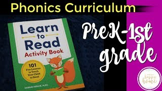LEARN TO READ ACTIVITY BOOK || PreK and Kindergarten Phonics Curriculum Review