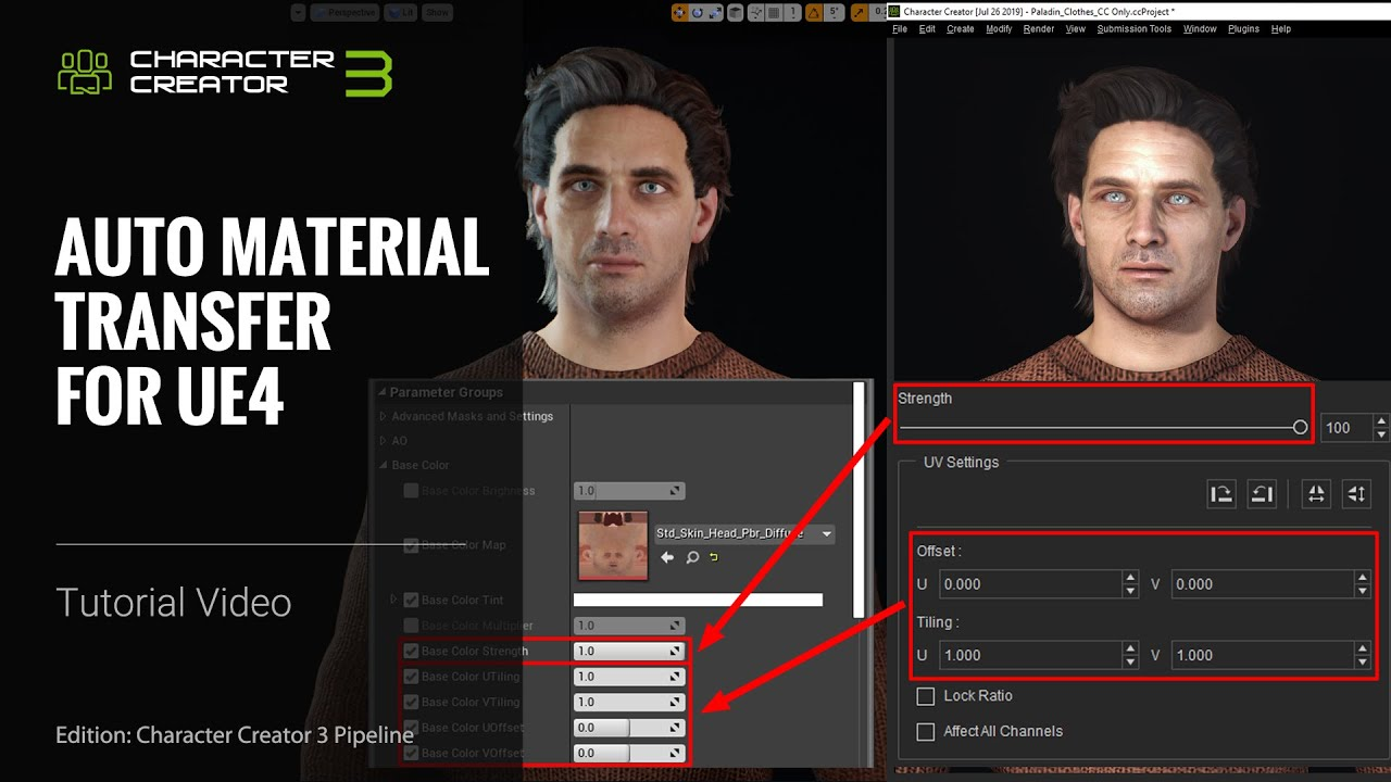 Character Creator 3 Tutorial - Auto Material Transfer for Unreal Engine 4