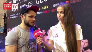 Шамиль Джахбаров. Слова после боя. FIGHT NIGHTS GLOBAL Summer Cup (China)