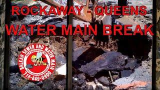 preview picture of video 'Far Rockaway Queens Water Main Break'