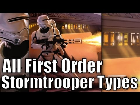 All First Order Stormtrooper Types and Variants