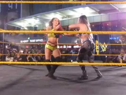 Santana, Purrazzo, Conti, Carter of NXT at WWE WrestleMania Ticket On-Sale Party Tampa Nov. 2019