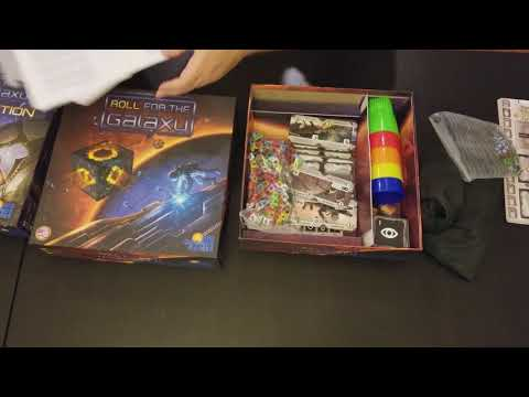 Roll for the Galaxy and Roll for the Galaxy Ambition - Unboxing video