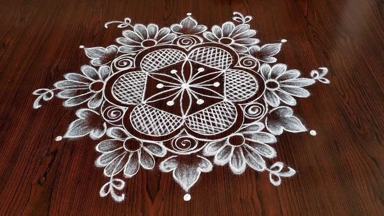 akshaya trithiya special rangoli design muggulu 5*3 dots by sresta rangoli