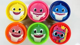 Learn Colors with Baby Shark Play-doh Surprises & Plush Toys from Kids Song