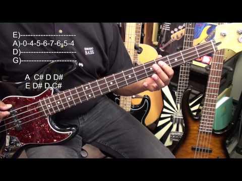 12 Bar Blues In A Major EASY Bass Guitar Lesson EricBlackmonMusicHD