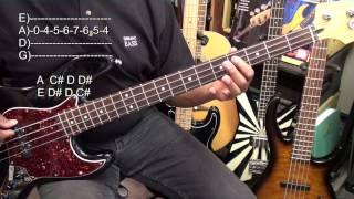 12 Bar Blues In A Major EASY Bass Guitar Lesson EricBlackmonMusicHD