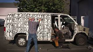 Julien's Auctions: See RETNA's Graffitied Ford Van Get Cut Up in 30 Seconds