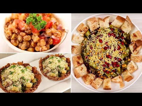 BEST CHAAT RECIPES | Must Try Chatpata Chaat Recipes | Bread Potato Chaat | Katori Chaat |Corn Chaat