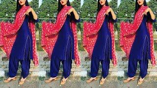 Latest Blue Punjabi Suits Colour Combinations | Beautiful Colour Combination For Punjabi Suits | T.