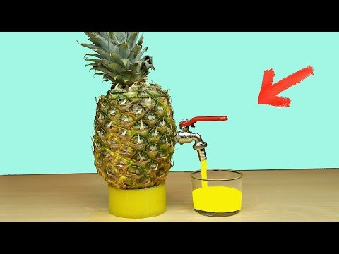 DIY How To Make Pineapple Juice Dispenser