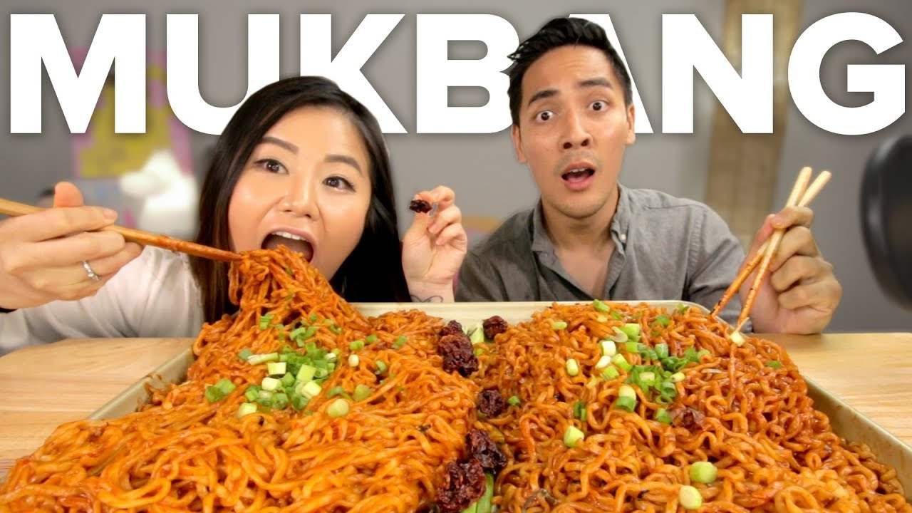I Did The Spiciest Mukbang Ever (ft. hyuneeEats) thumbnail