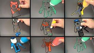 ROBLOX PIGGY JUMPSCARES PANCAKE ART - PIGGY, CLOWNY, BUNNY, POLEY, Dinopiggy, Parasee, Torcher,Poley