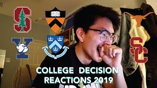 COLLEGE DECISION REACTIONS 2019: Princeton, Yale, Columbia, Stanford, USC, & UT Austin