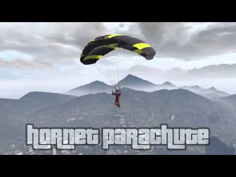 GTA 5 Online: All Parachute Colors (canopy and color, flight school update included)