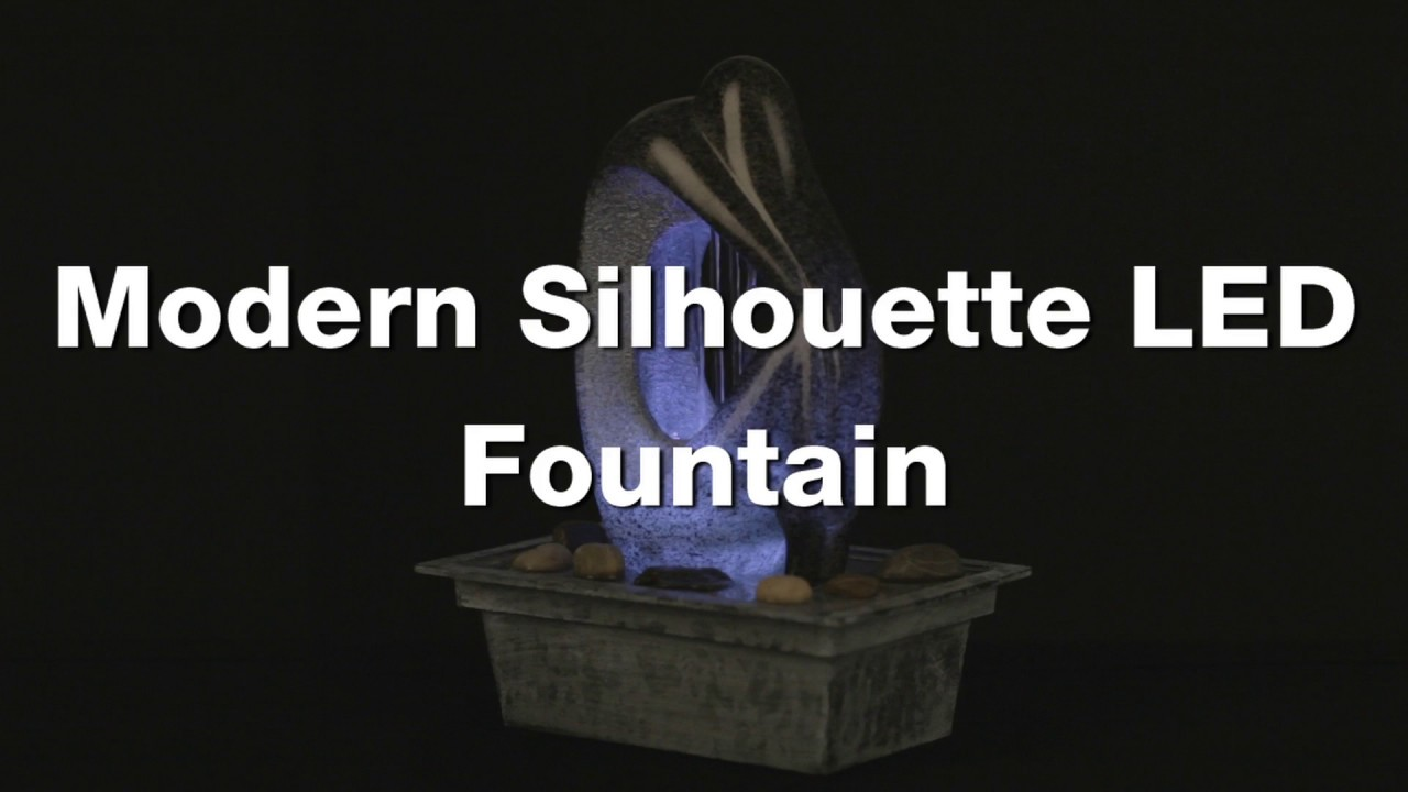 Modern Silhouette 10 inch High LED Tabletop Fountain