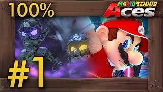 Mario Tennis Aces (Story Mode): Walkthrough Part 1 - Intro & Bask Ruins - dooclip.me