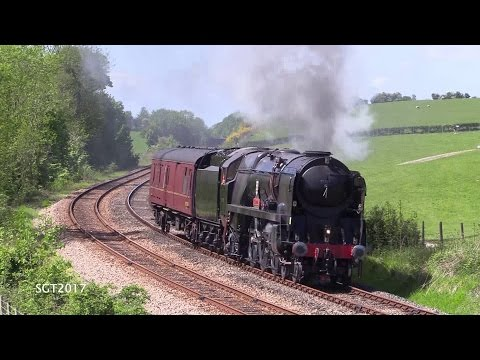Southern Railway 35018 'British India Line' runs hot on her …