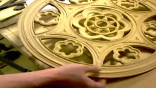 3D CNC Fräsen Kirchen Rosone / Milling a large church rosace with CNC Router