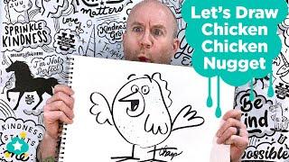 Let's Draw a Chicken Chicken Nugget