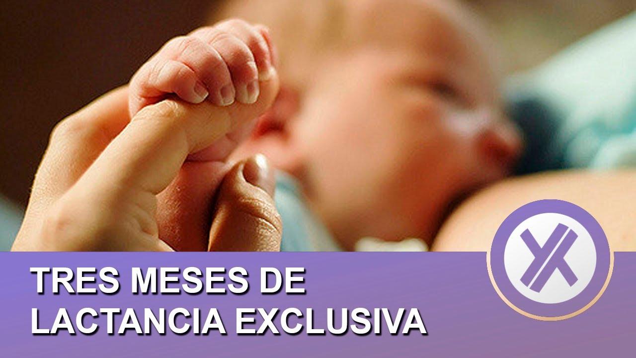 Tres meses de lactancia materna exclusiva - mi experiencia