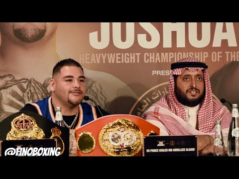 ANDY RUIZ vs ANTHONY JOSHUA 2 FINAL PRESS CONFERENCE IN RIYADH, SAUDI ARABIA