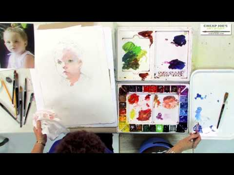 Watercolor Techniques with Janet Rogers - Creating Flesh Tones-Part 2