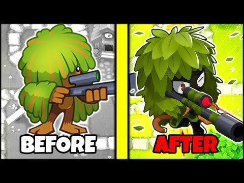 ᐈ Bloons TD 6 - SNIPER MONKEY BEFORE AND AFTER // SECRET BTD 6