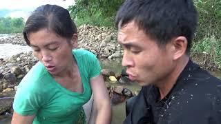 Survival skills | Build a fish trap _ Stack stones create a maze fish trap _ Catch lots of big fish