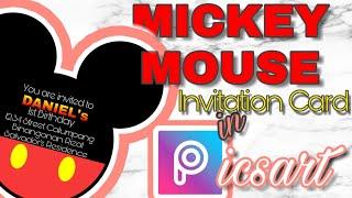 Picsart   Mickey Mouse Invitation Card