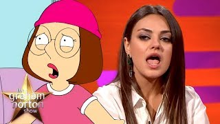 "Mila Kunis Constantly Gets Told ""Shut Up Meg"" 