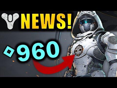 Get 960 POWER Iron Banner Gear! - Crucible Update TODAY! | Destiny 2 News