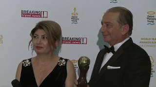 Интервью Л. Димитриадиса и Б. Азоиду по случаю победы Beleon Tours на World Travel Awards 2017