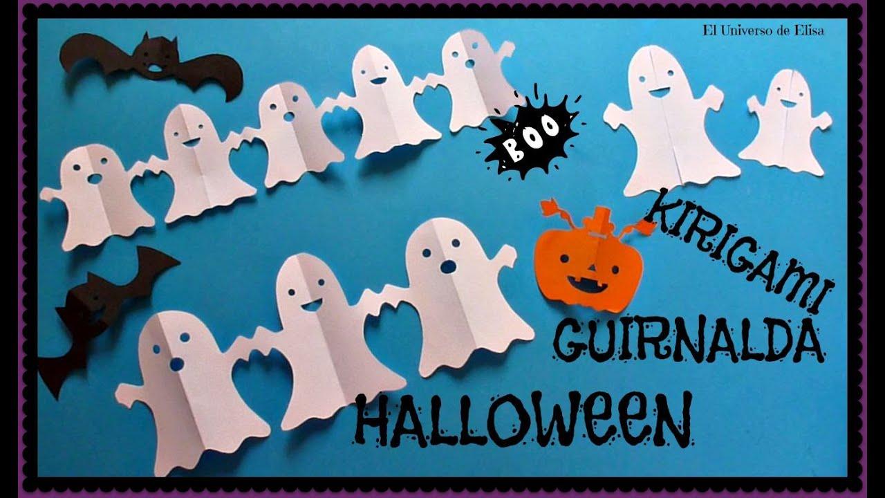 Decora tu Cuarto en Halloween con Fantasmas de Papel, Decoración Halloween - Día de los Muertos