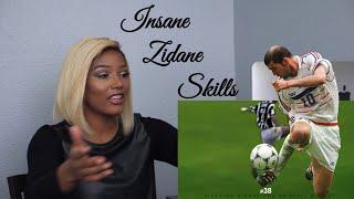 Clueless new American football fan reacts to Zinedine Zidane Top 50 Football Skills Ever